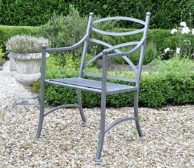 metal garden chairs chatsworth metal chair UVQDJEF