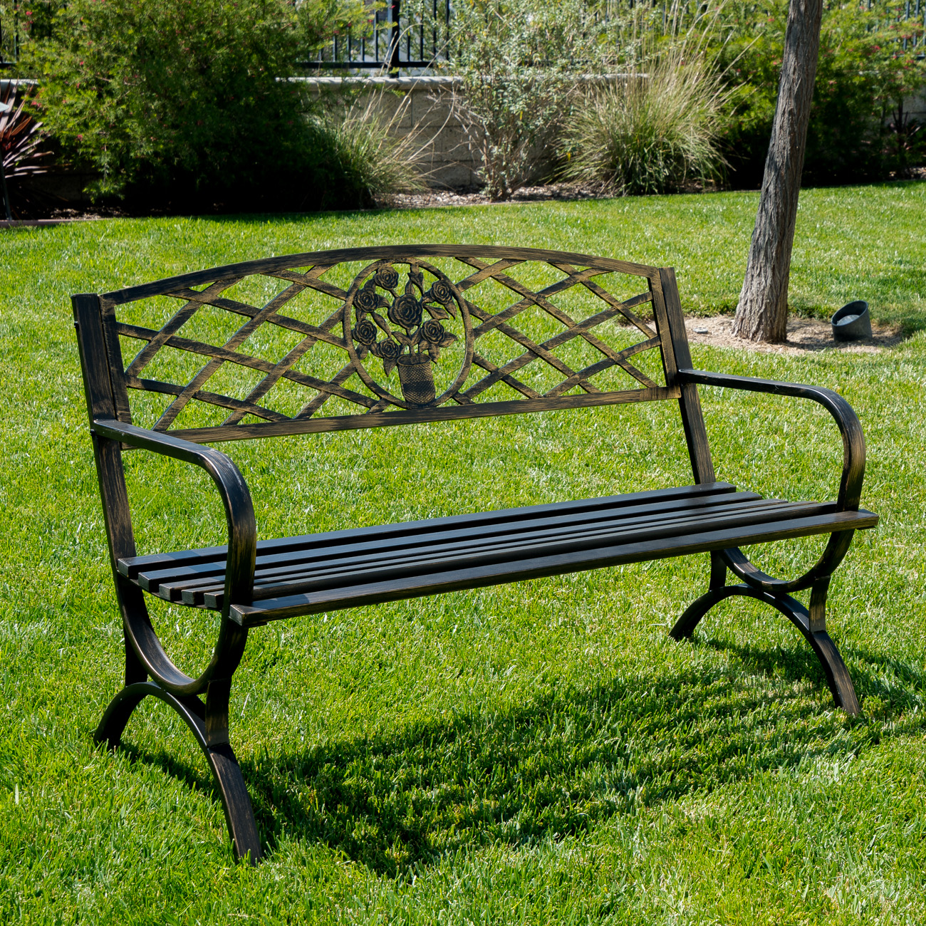 The use of metal garden chairs