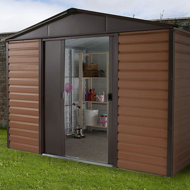 metal garden sheds click image to enlarge yardmaster 10 x 6 woodview apex metal garden RZDKVWA