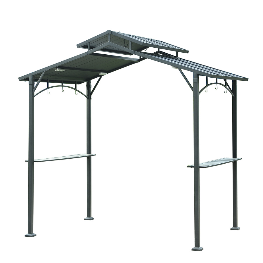 metal gazebo display product reviews for matt black metal rectangle grill gazebo  (exterior: RKZMALX
