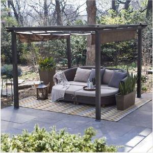 metal gazebo image is loading pergola-kit-canopy-cover-metal-gazebo-patio-furniture- QMEGBVB
