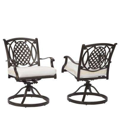 metal outdoor chairs belcourt custom swivel rocking metal outdoor dining chair (2-pack) with  cushions PZGQRIV