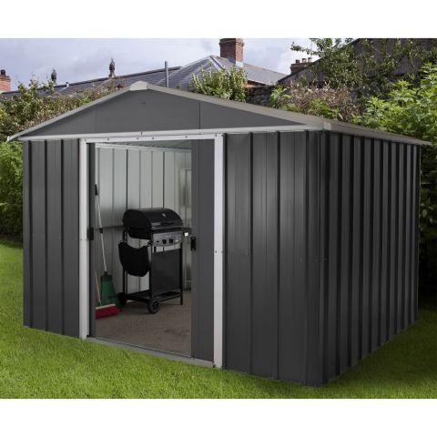 metal sheds 10x8 yardmaster castleton anthracite metal shed QFYTCOS