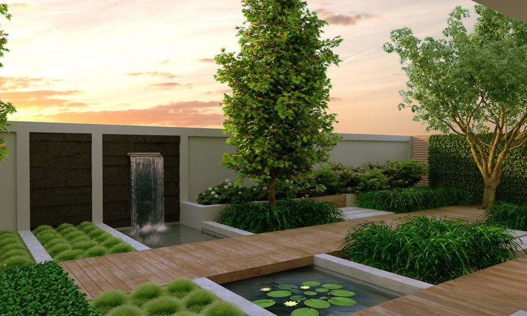 modern garden design contemporary garden design: ideas and tips QXDXJMX