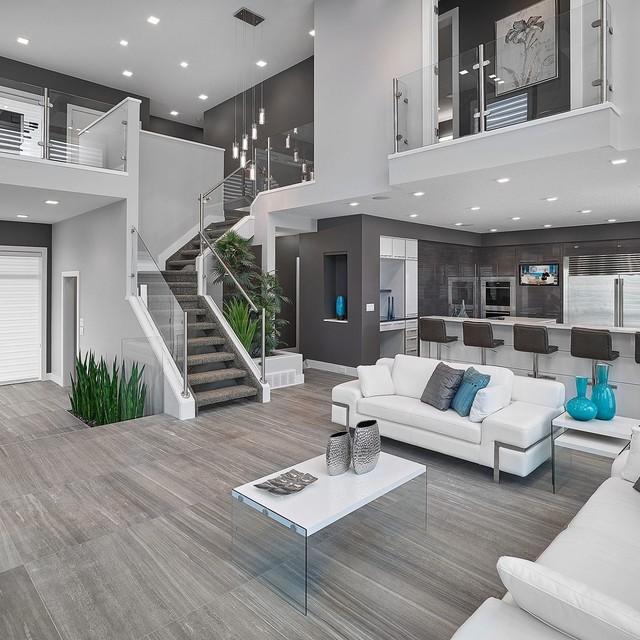 modern home decor vickyu0027s homes - vittorio contemporary-living-room DTOIBAS