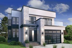 modern house designs modern exterior - front elevation plan #25-4415 OJFLOOG