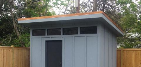 modern sheds two large 36x36 picture windows and modern transoms across the front PEZNAGR