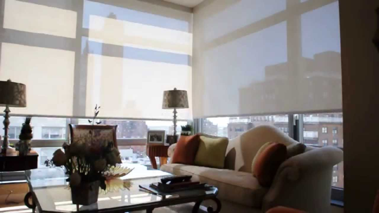 motorized window shades motorized solar shades nyc - installation of motorized solar window shades GHQWFCO