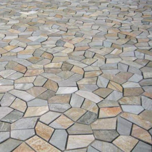 natural rusty slate crazy paving for patio or plaza project IOVZAOE