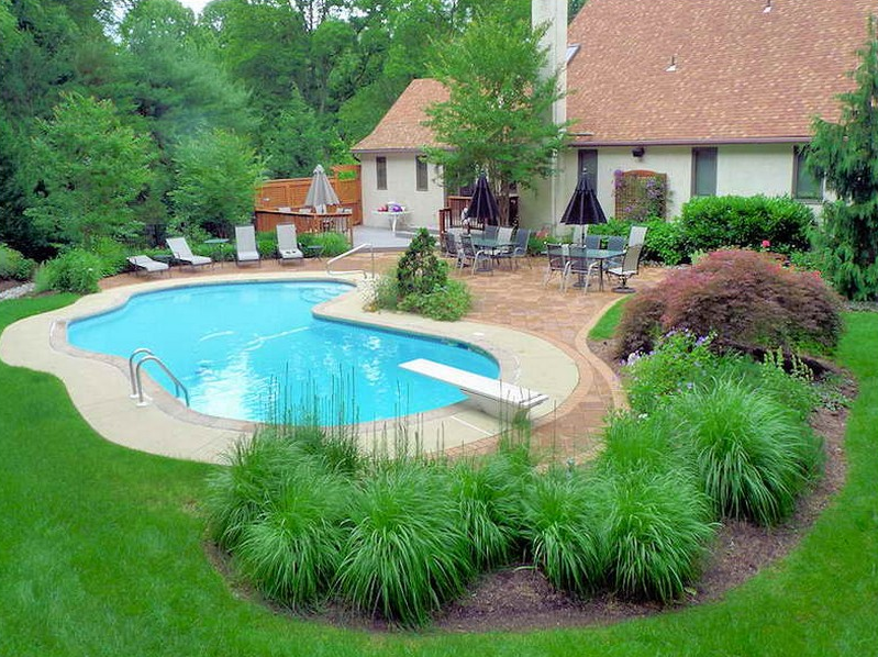 nice idea for inground pool landscaping QNUIHCQ