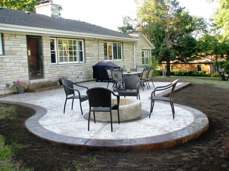 nice outdoor concrete patio ideas ZPUUSCP