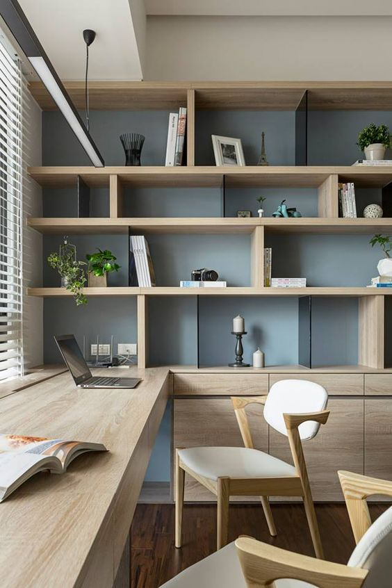 office design ideas nice idea for my office. possibly add shelving that goes up the NJGWXDP