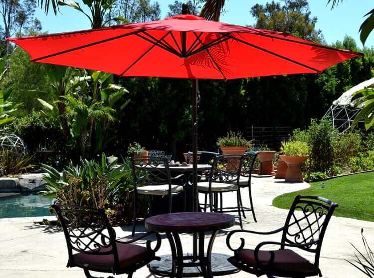 offset patio umbrella - red 10u2032 JJTMNTB