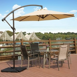 offset patio umbrella weller 10 ft offset cantilever hanging patio umbrella by westin outdoor BYZENLK