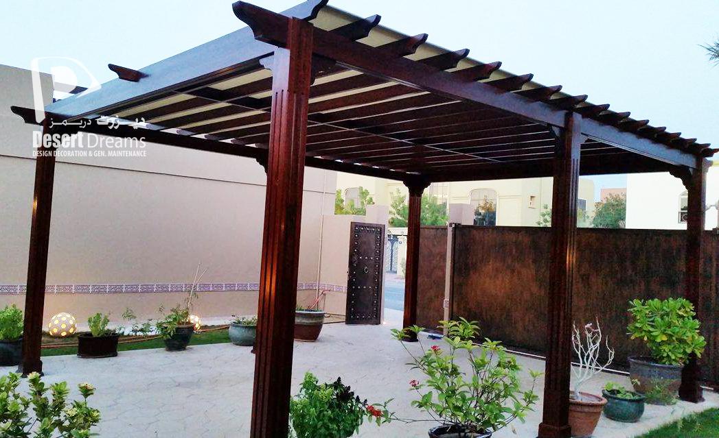 our new project wooden pergola al mizhar, dubai. SMGXNDQ