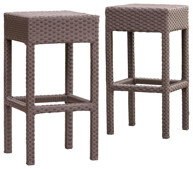 outdoor bar stools rudolfo 2-piece outdoor backless bar stools TQOOBJK