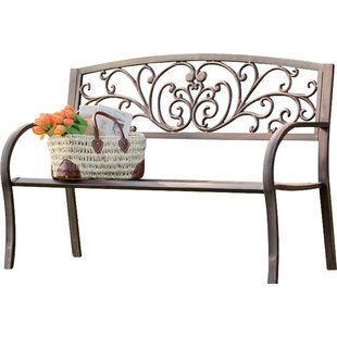 outdoor benches blooming iron garden bench POFNYWU