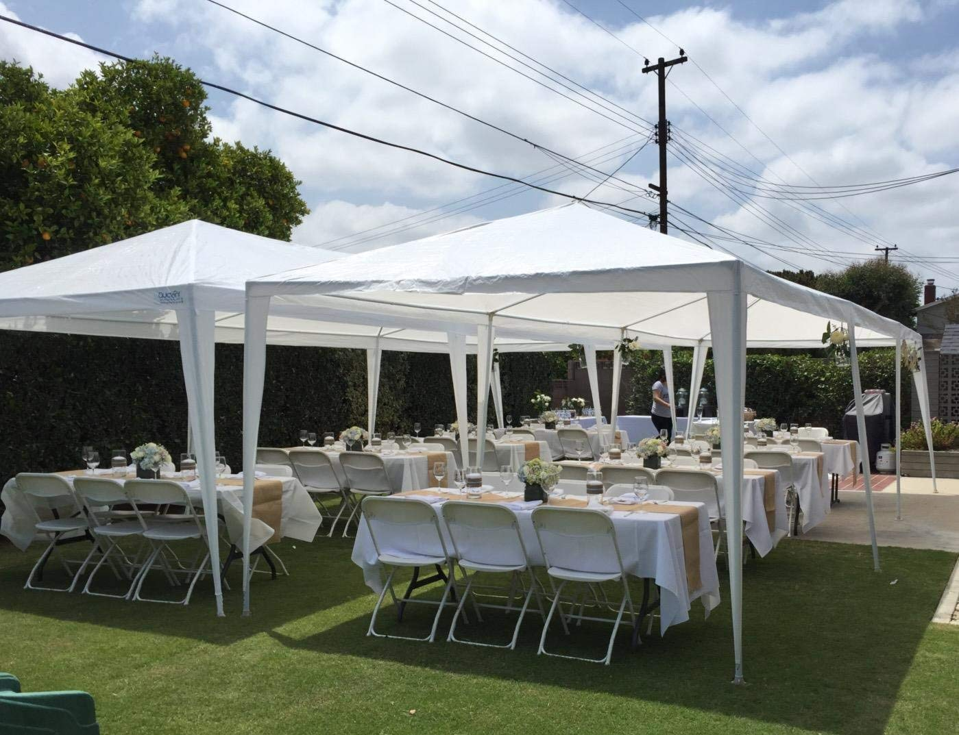 outdoor canopy tent amazon.com : quictent 10 x 30 outdoor canopy gazebo party wedding tent YTTOCEG