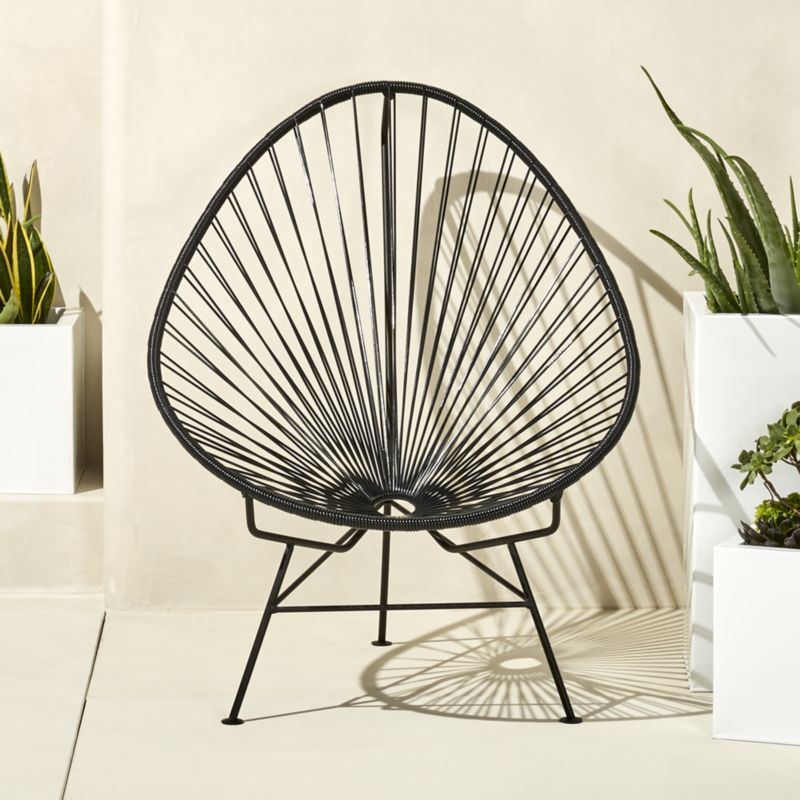outdoor chair outdoor black acapulco chair + reviews   cb2 LURWKYF