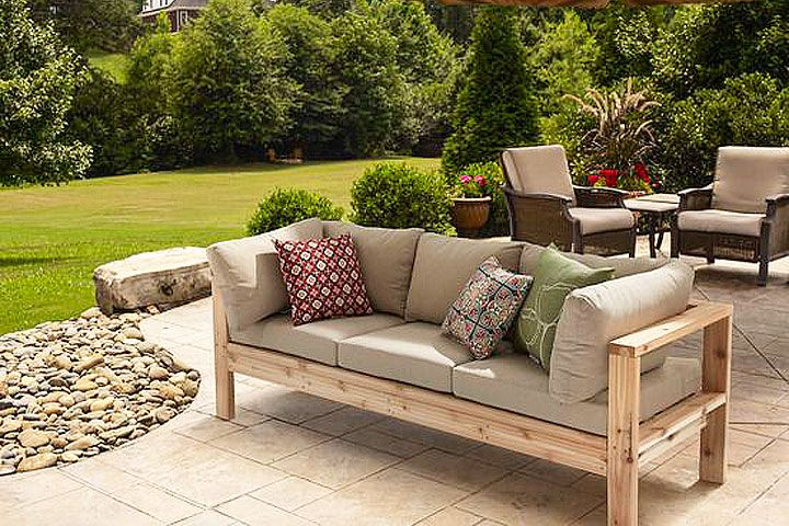 outdoor couches modern style meets diy cool in this sturdy cedar outdoor sofa! with ODZPXSI