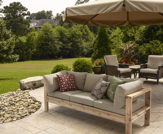 outdoor couches ryobi tools outdoor couch by ana white #diyfurniture NBMXLSH