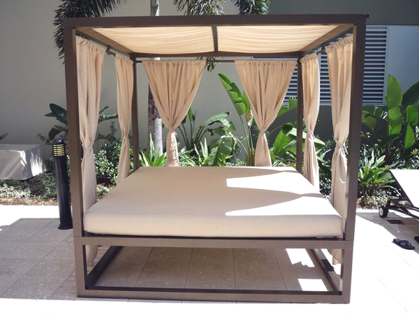 outdoor daybed with canopy by florida patio 1 RSLPYKJ