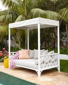outdoor daybed with canopy chinois daybed at neiman marcus. oh what i would give for this! CMFBZEA