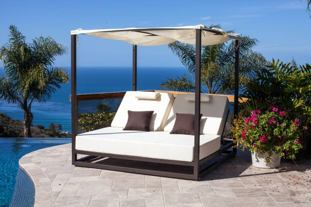 outdoor daybed with canopy ... riviera outdoor daybed ... DKVBEEA