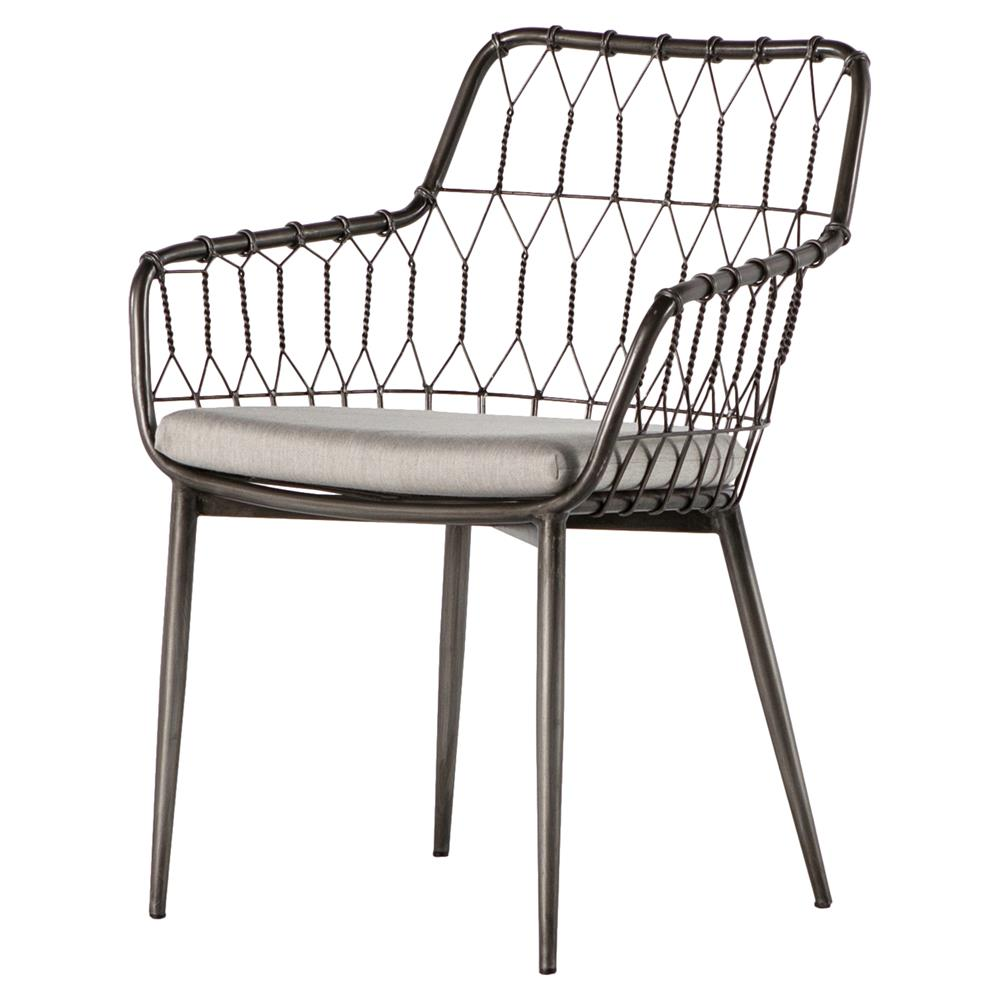 outdoor dining chairs albin hairpin iron rattan outdoor dining chair   kathy kuo home JDNMKDH