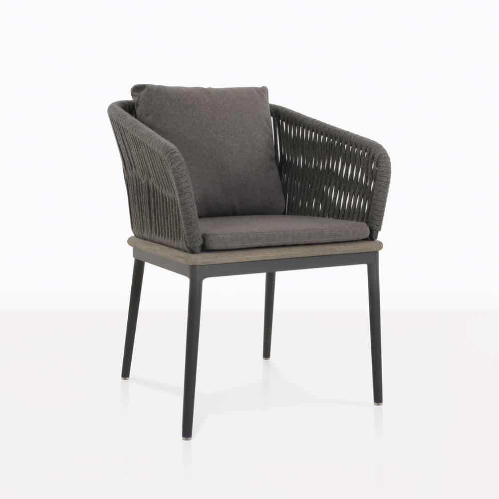 outdoor dining chairs oasis outdoor dining chair (coal)   patio furniture   teak warehouse CSAGMBJ
