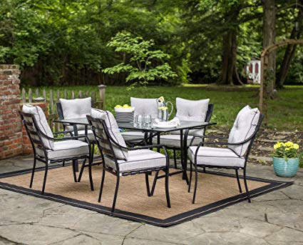 outdoor dining sets hanover odla-7pc-cu-gl lavallette 7-piece outdoor dining set XRMHFJS