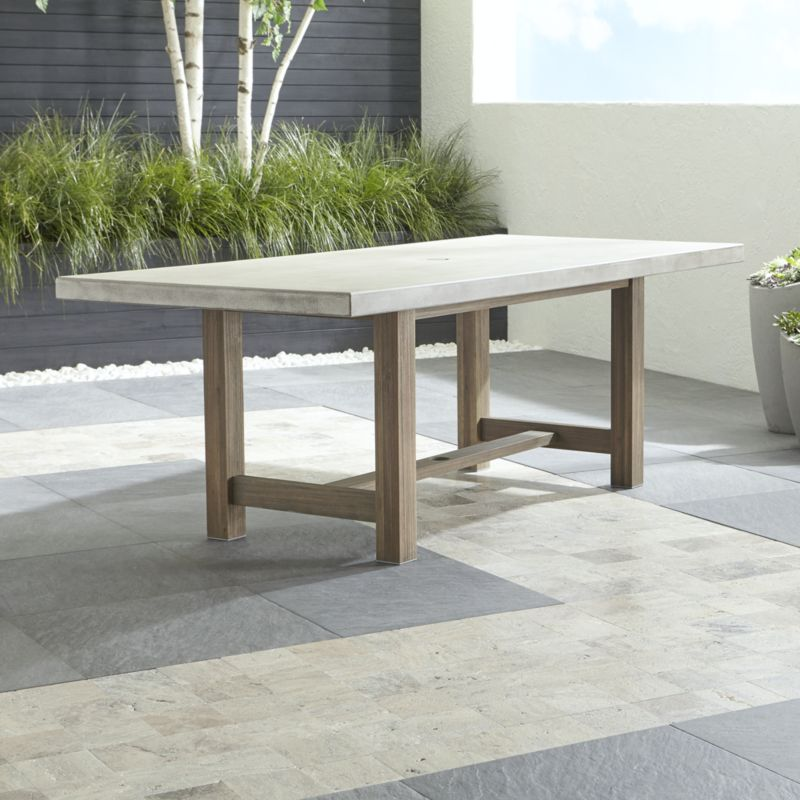 outdoor dining table cayman dining table + reviews | crate and barrel GXMKNPE