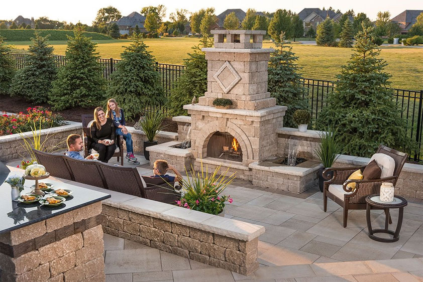 outdoor fireplace ideas outdoor fireplace design ideas: getting cozy with 10 designs UMFYQFS