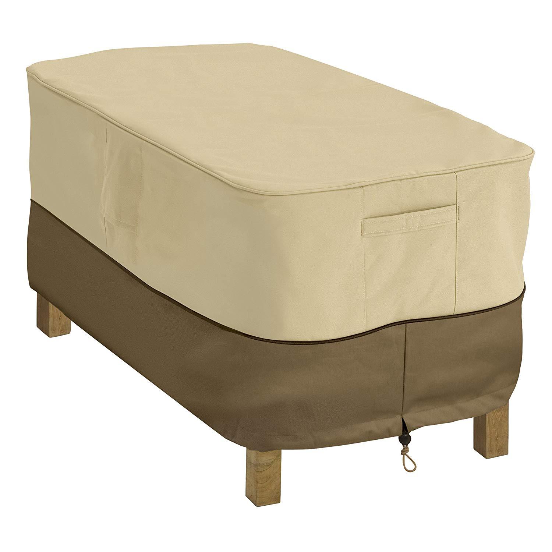 outdoor furniture covers amazon.com : classic accessories veranda patio coffee table cover - durable BWQFTYR