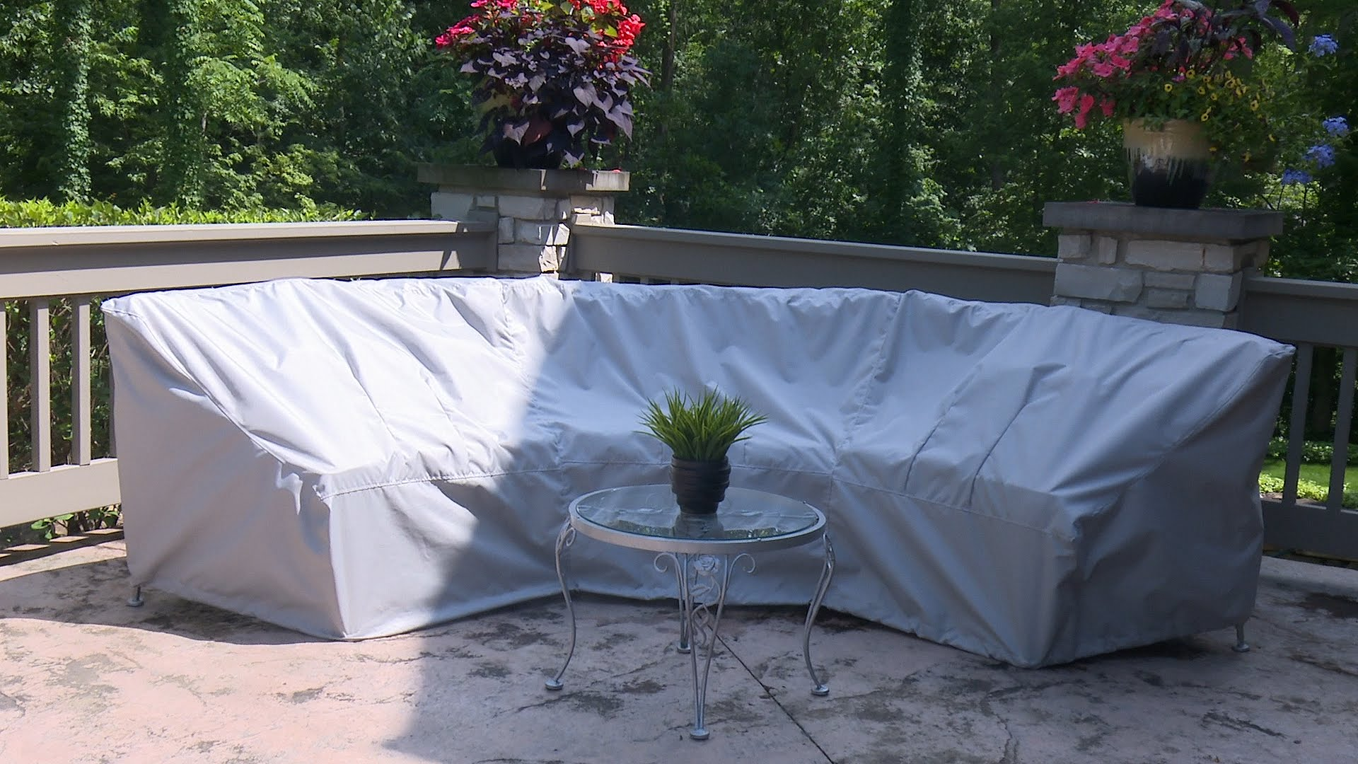 outdoor furniture covers how to make a cover for a curved patio set - sewing CZSLBLR