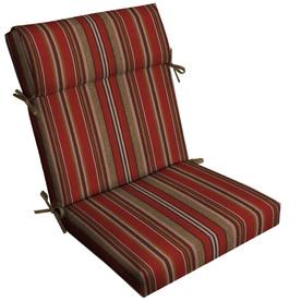 outdoor furniture cushions allen + roth 1-piece priscilla stripe red high back patio chair cushion ZOBUQFQ