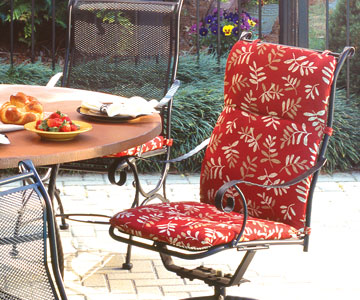 outdoor furniture cushions high back chair cushions IRTCOAN