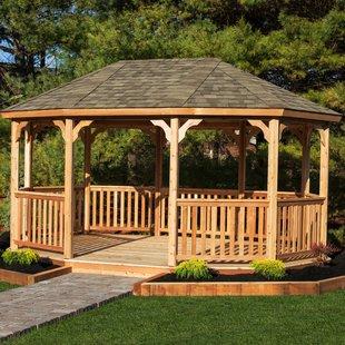 outdoor gazebo 18 ft. w x 12 ft. d solid wood patio gazebo TTNARDF