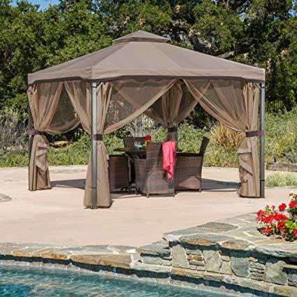 outdoor gazebo great deal furniture 294933 sonoma | outdoor fabric/steel gazebo canopy | TJHEINO