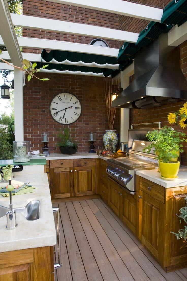 outdoor kitchen ideas outdoor kitchen with retractable canopy VGVWYRU