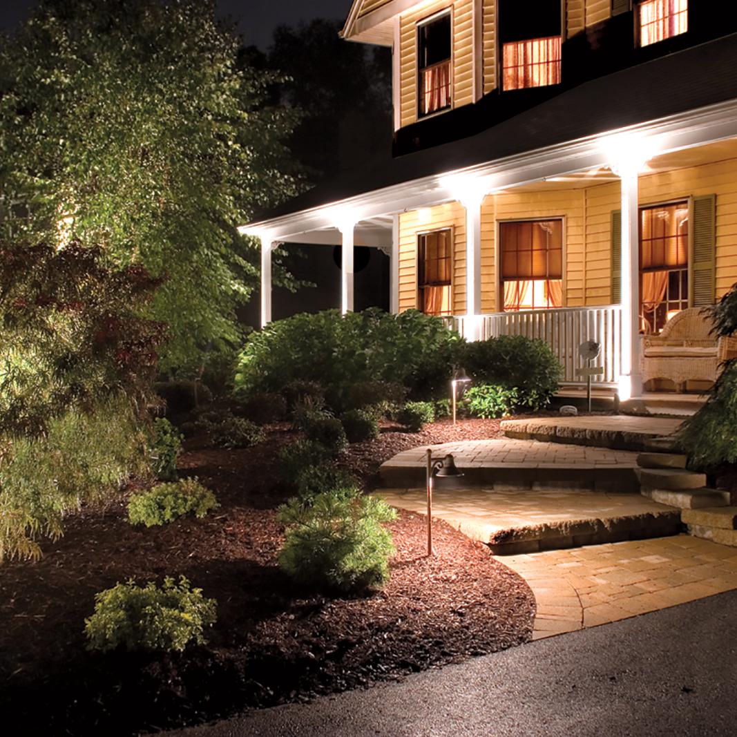 outdoor landscape lighting white POUTCAY