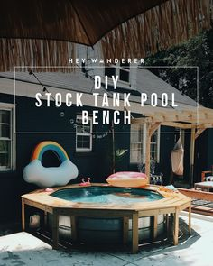 outdoor living ideas diy: stock tank pool bench DAGDZIJ