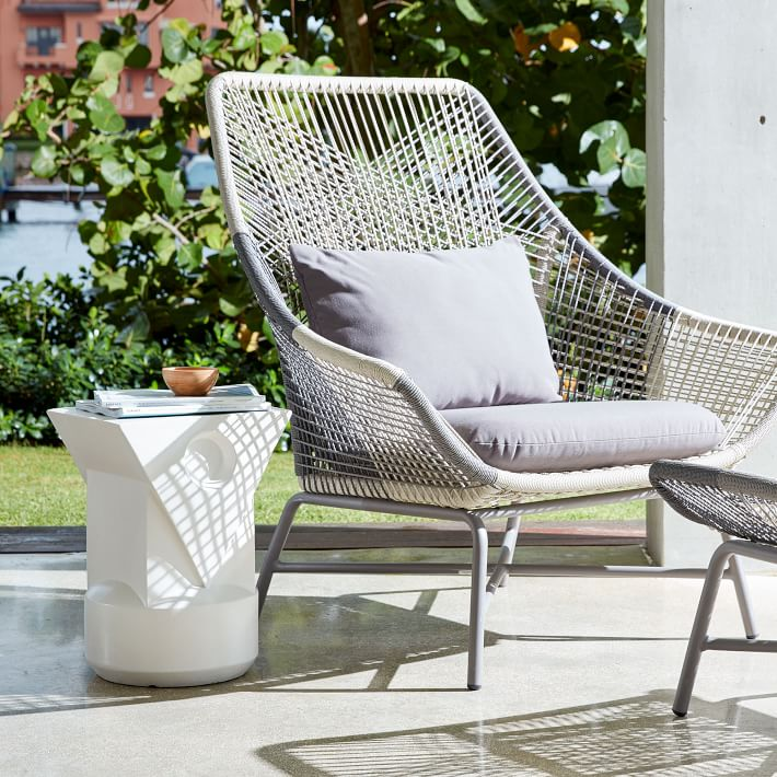 outdoor lounge chairs huron outdoor large lounge chair + cushion   west elm FRIEPWY