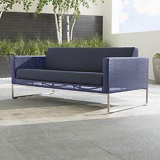 outdoor lounge dune sofa with sunbrella ® cushions CAJVUGP