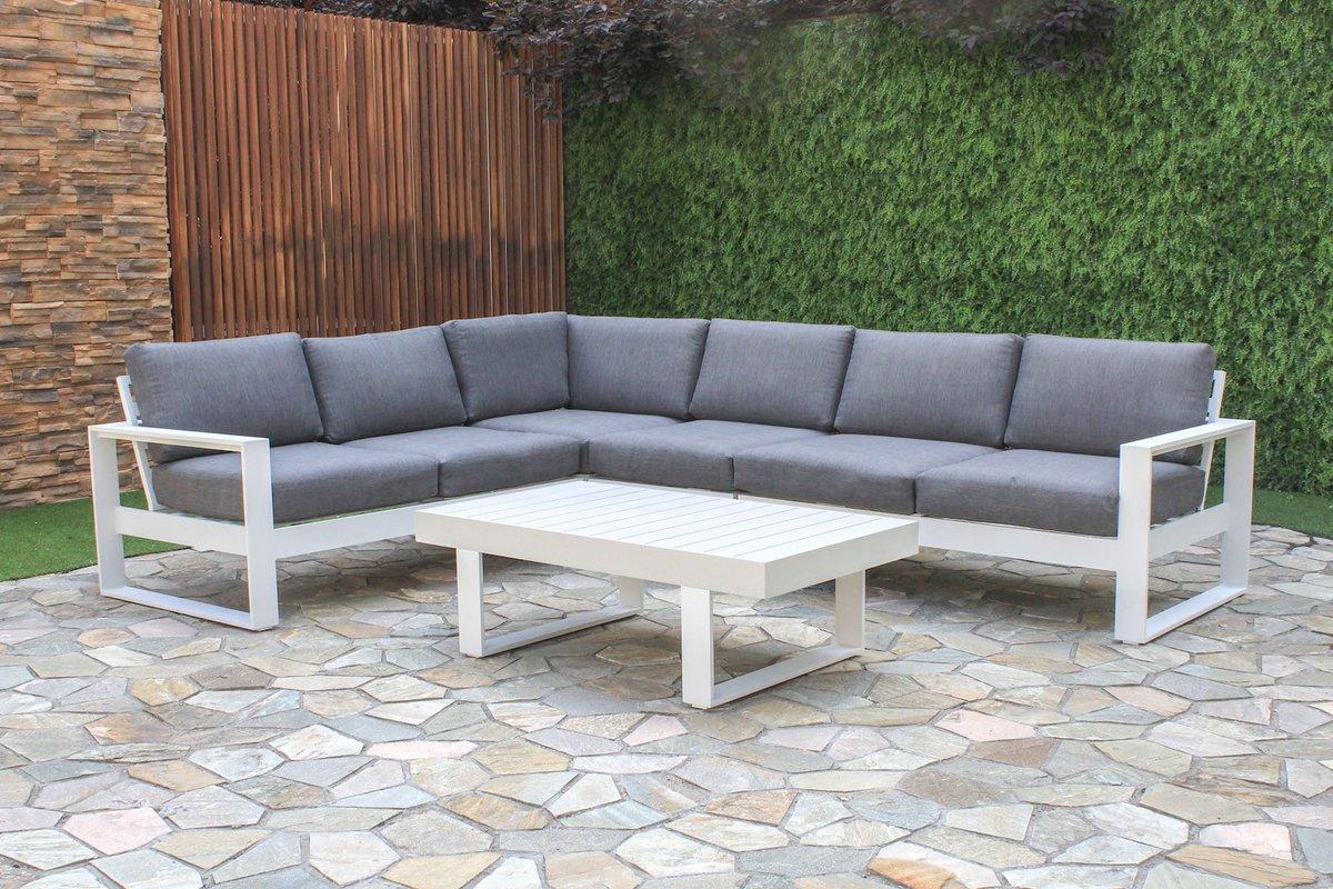 outdoor lounge manly 5-piece aluminium outdoor modular lounge setting   furnitureokay MHQGTXG