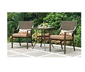 outdoor patio chairs amazon.com: mainstays alexandra 3-piece bistro outdoor patio furniture set  features red RECCLFJ