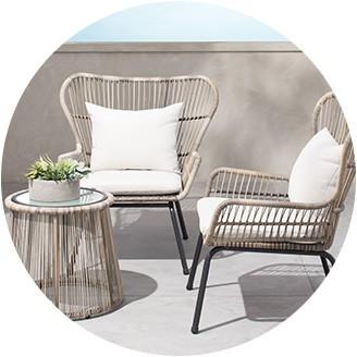outdoor patio chairs conversation sets DAREDUA