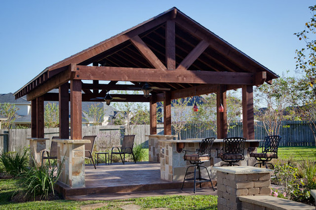 outdoor patio structure for entertaining in katy, tx traditional-patio OZEKWOQ