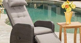 outdoor recliner amazon.com: odina outdoor brown recliner with cushion: kitchen u0026 dining VUOUSYP