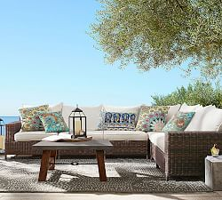 outdoor sectionals ... espresso torrey all-weather wicker square arm sectional set, espresso JERWSDY